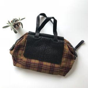 {l.a.m.b.} wool tartan plaid handbag satchel purse